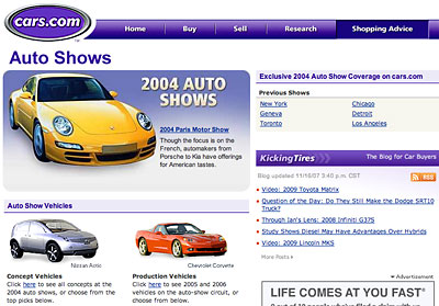Cars.com 2004 Auto Show coverage