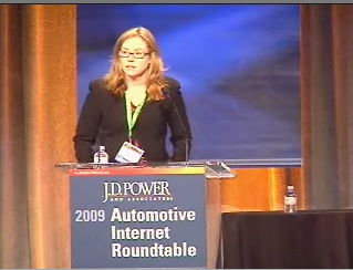 Mary S. Butler, moderator of the Social Networking panel at the 2009 Automotive Internet Roundtable